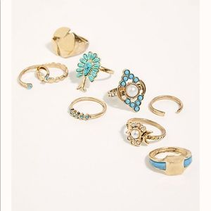 Free People Western Gold Silver Everything Rings